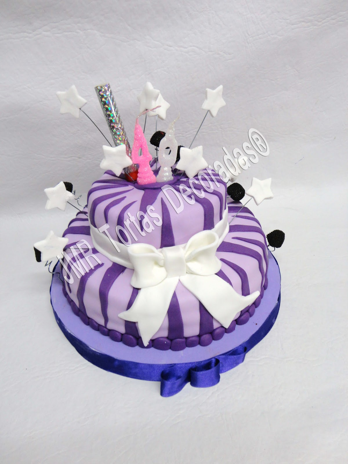 Animal Print Violeta Jmr Tortas Decoradas