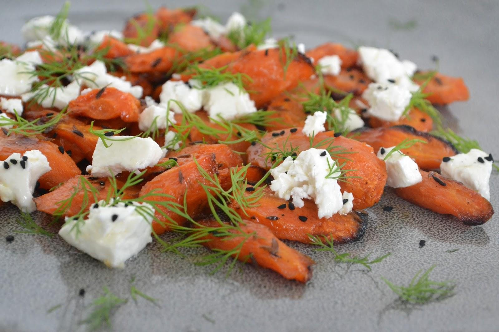 Eet lekker: Geroosterde wortel met komijn, geitenkaas en een ...