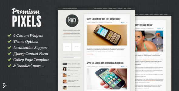 Premium Pixels v1.2 - Magazine Wordpress Theme Free Download by ThemeForest.