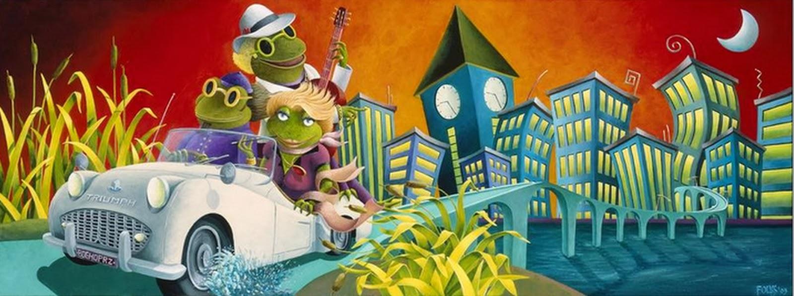 Cuadros modernos pinturas y dibujos cuadros ciudades - Cuadros pintura acrilica moderna ...