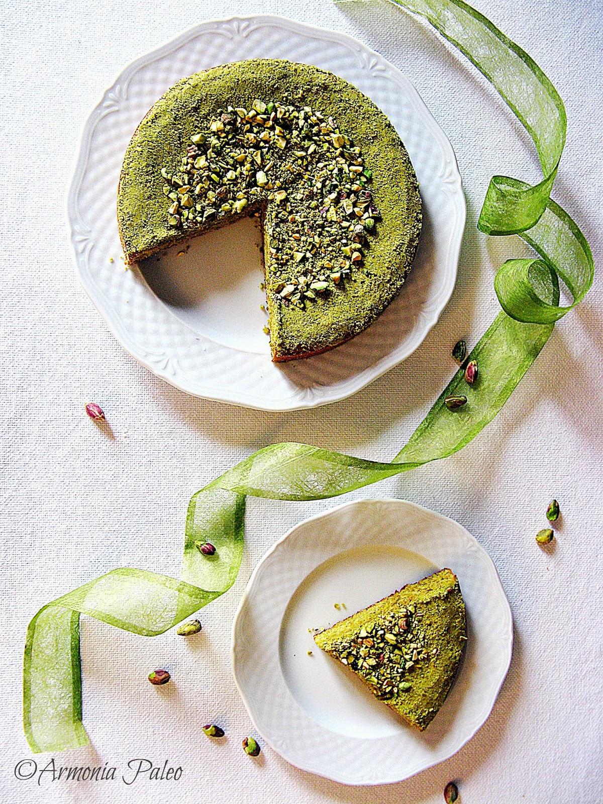 Torta Verde Pistacchio di Armonia Paleo