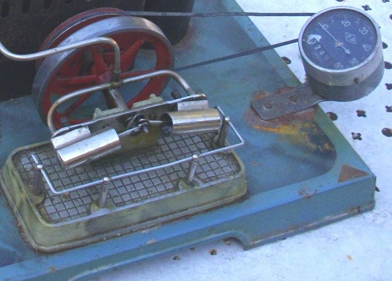 ancien jouet tole grande machine a vapeur jc unis france steam engine dampfmaschine au fil du. Black Bedroom Furniture Sets. Home Design Ideas