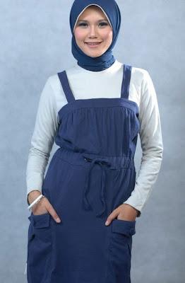 Actual Basic Busana Muslim Biru