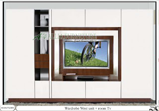 lemari pakaian modern tv unit West