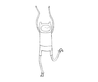 #16 Finn Coloring Page