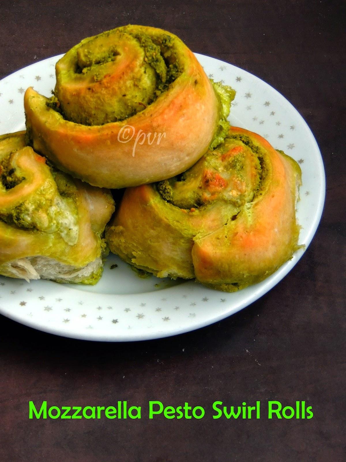 Pesto & Mozzarella swirl Rolls