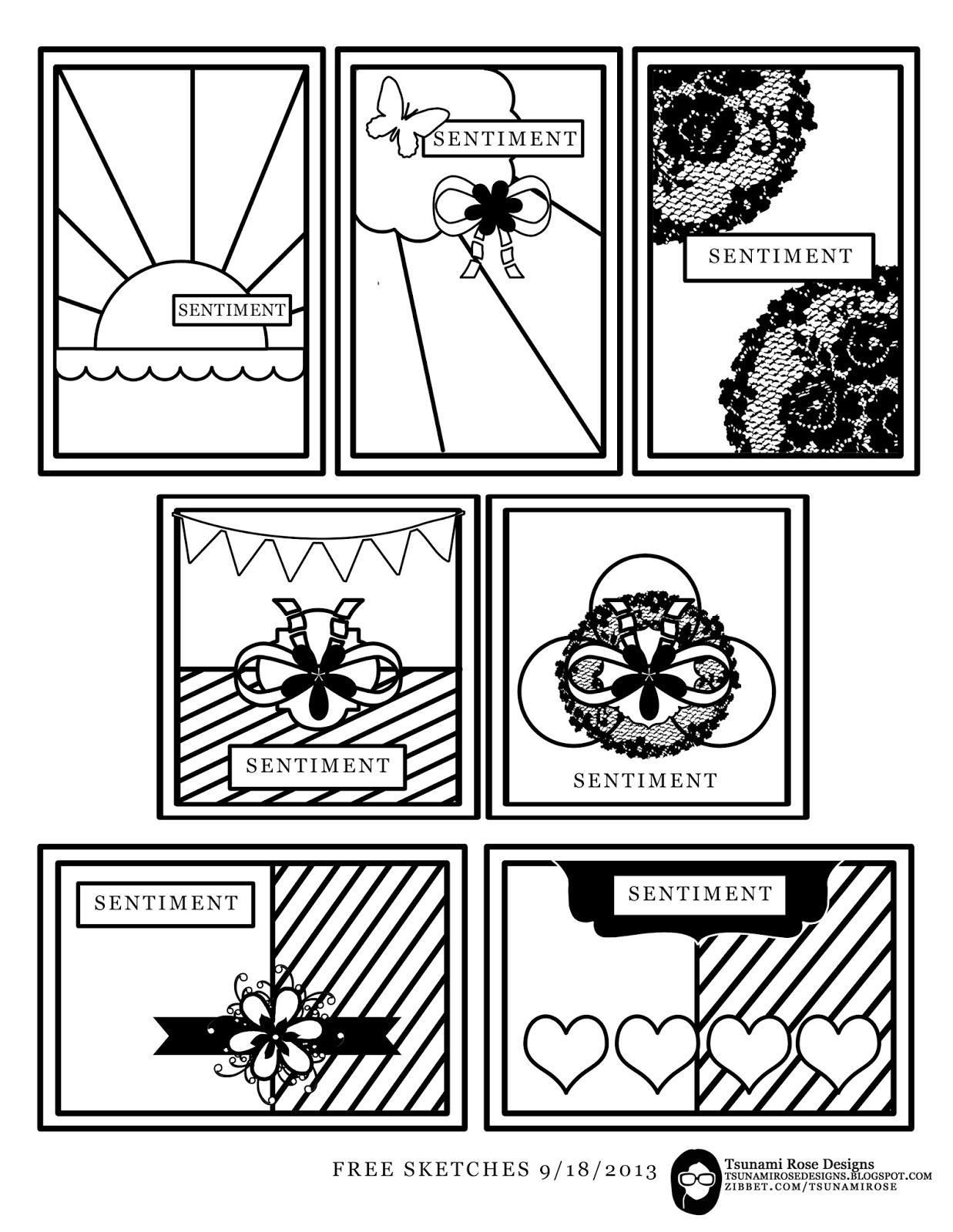 Tsunami Rose Designs: New Free Printable Sketches, Enjoy!