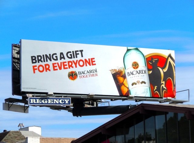Bacardi gift for everyone billboard