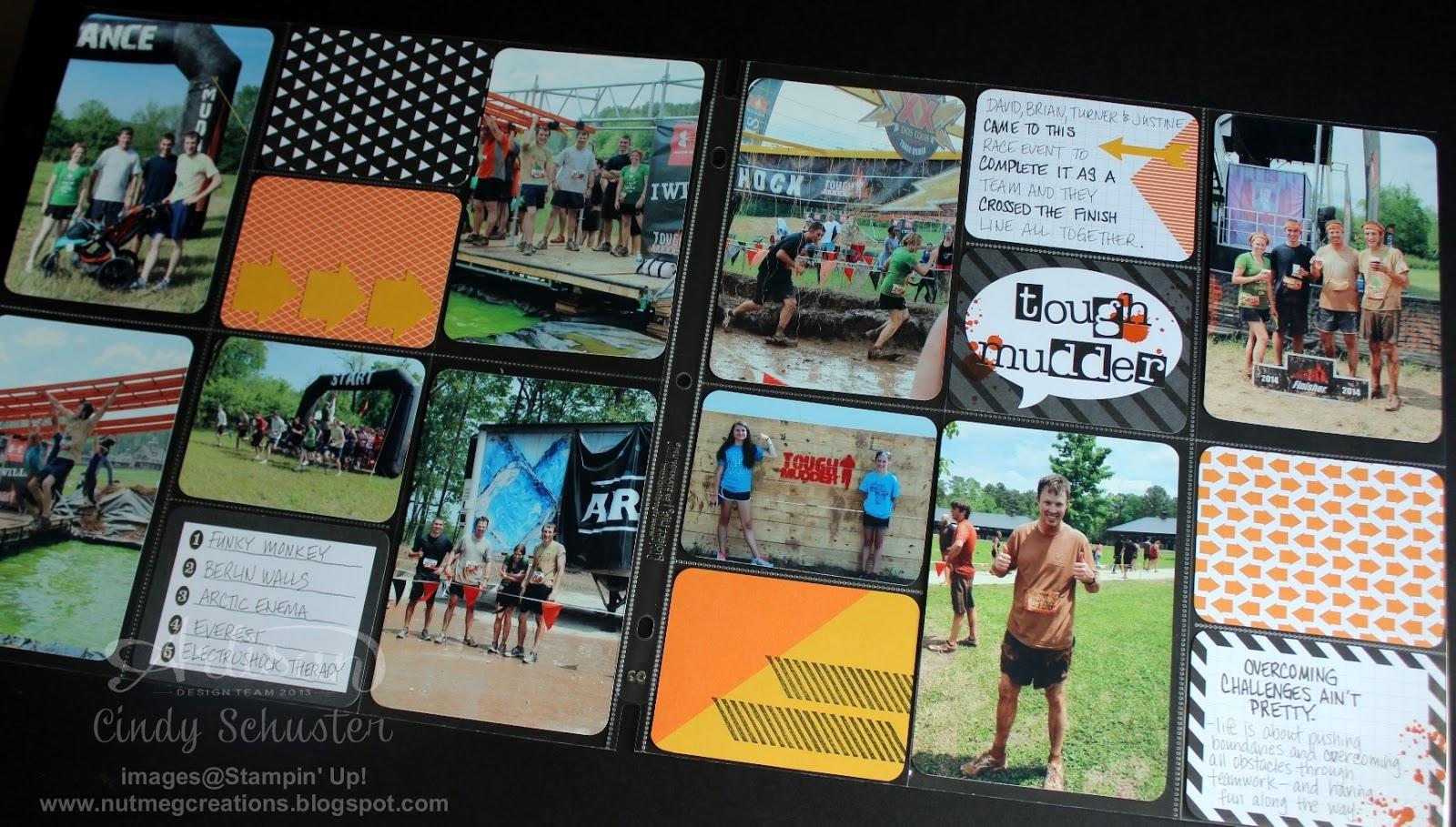 Tough Mudder Run Scrapbook Page Kit