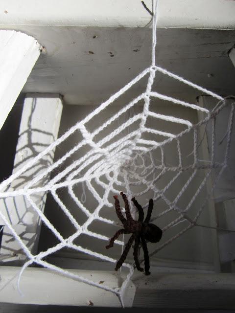 Crochet spiderweb gehaakt spinnenweb