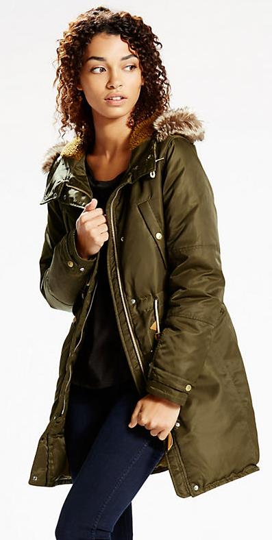 Womens Fur Hooded Parka Levi