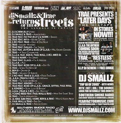 VA-DJ_Smallz_and_Trae-Return_of_the_Streetz_(Southern_Smoke_Special_Edition)-(Bootleg)-2005-RTG