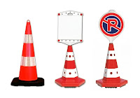 yol trafik park yapılmaz kuka işareti, plastik yol dubası