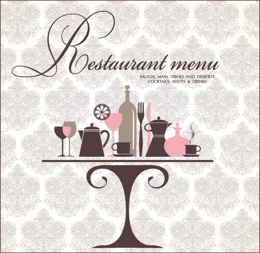 Happy delicious stuff clip art restaurant menu design for Artistic cuisine menu