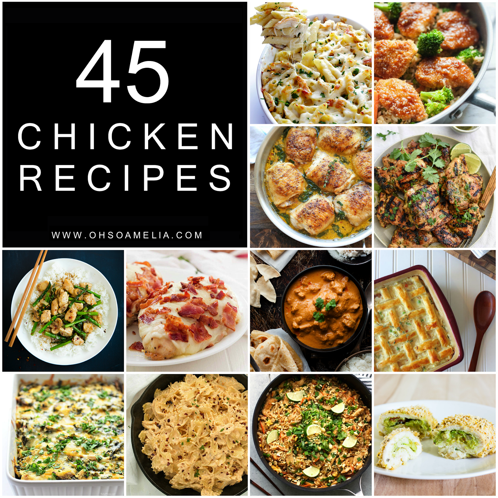 45 Mouthwatering Chicken Recipes