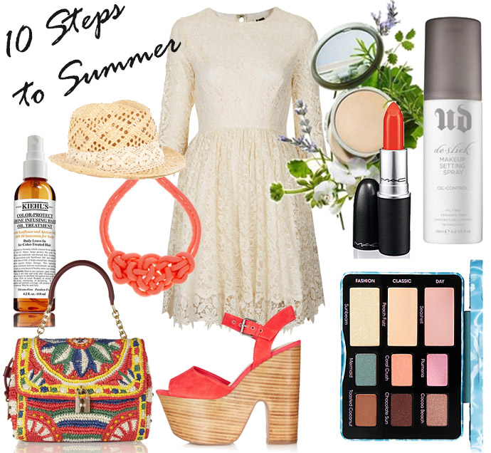Summer outfit idea, clothing and makeup