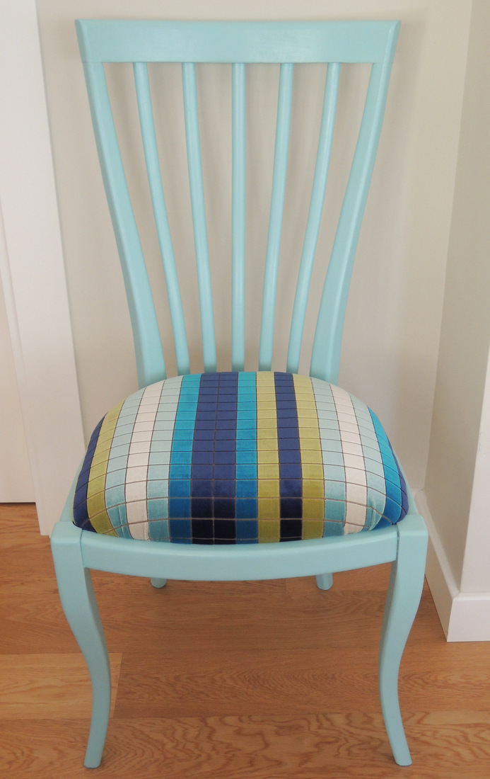 Rastro con encanto silla azul turquesa - Sillas turquesa ...