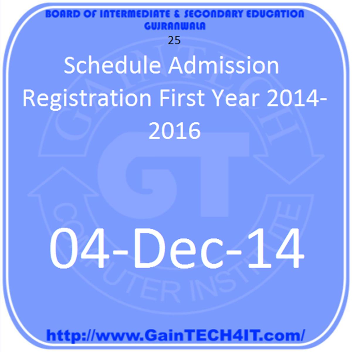 gujranwala board admissions