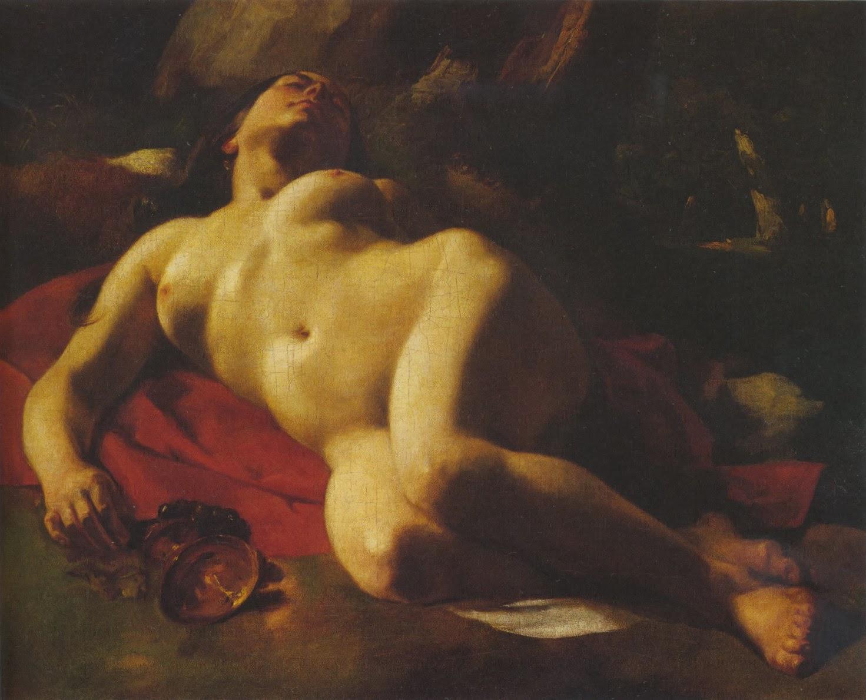 La bacante, Gustave Courbet (ca. 1844-47)