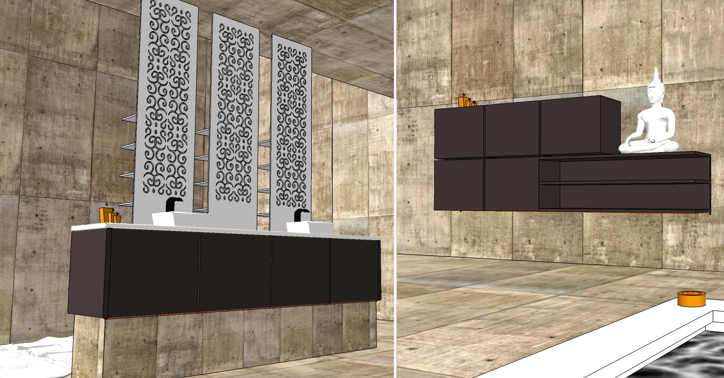 SKETCHUP TEXTURE SKETCHUP MODEL BATHROOM