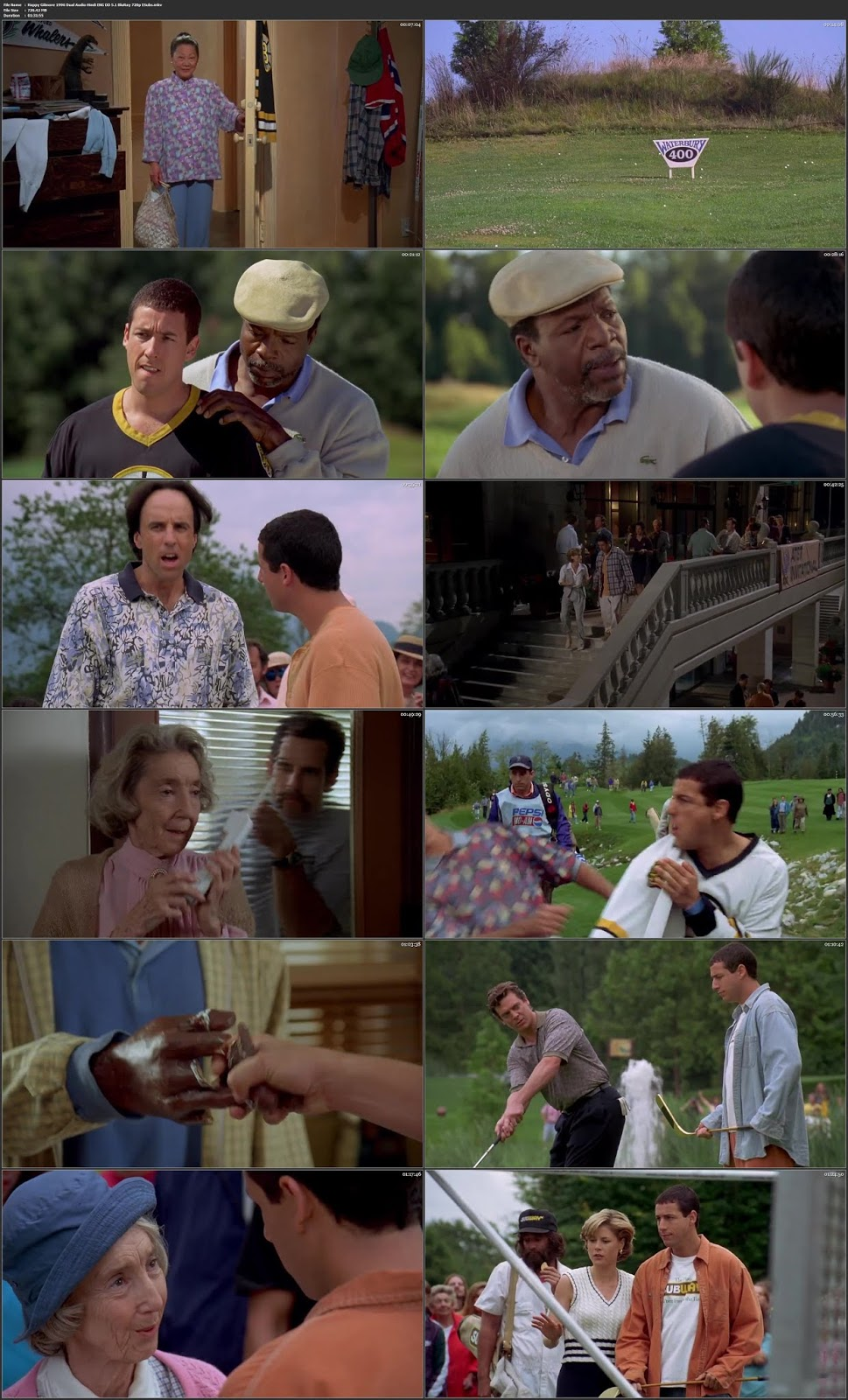Happy Gilmore 1996 Hindi Dubbed 380MB BlURay 480p ESubs