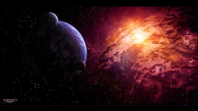 cinturão de fótons, terra lua e cinturao de fotons, explosão de luz