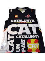 Samarreta Tècnica de Catalunya de Coolmax  per anar córrer, al gimnàs o a la muntanya, sense mànigues