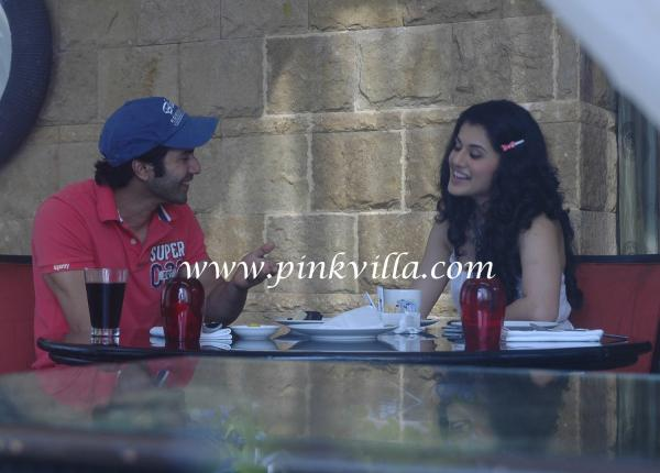 Taapsee Pannu And Varun Dhawan dine out