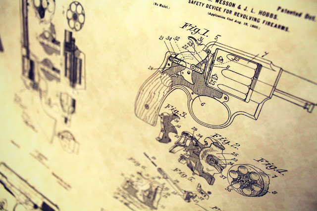 Gun patent poster