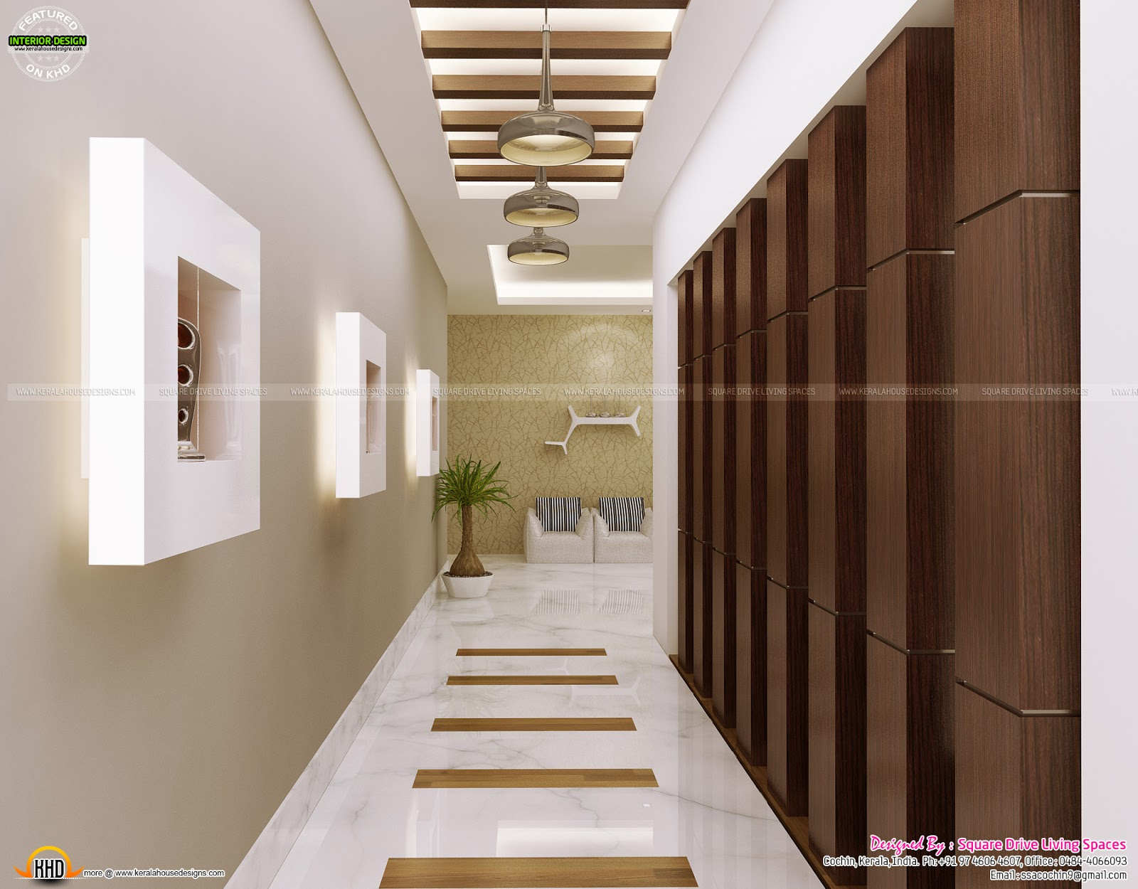 Attractive home interior ideas kerala home design and for Foyer area interior