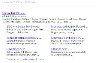 Banyak pelajaran yang sanggup dipetik dengan ganti Template Mempengaruhi Sitelink Google