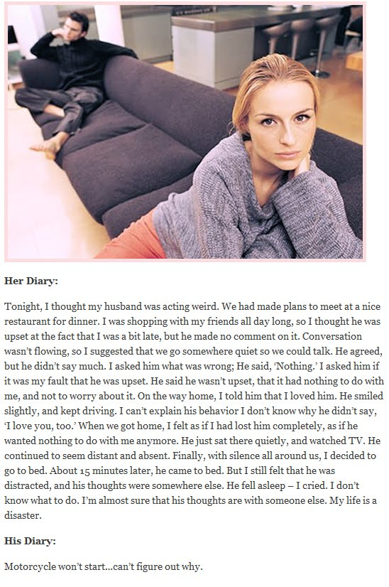 His Her Diary From The Same Day