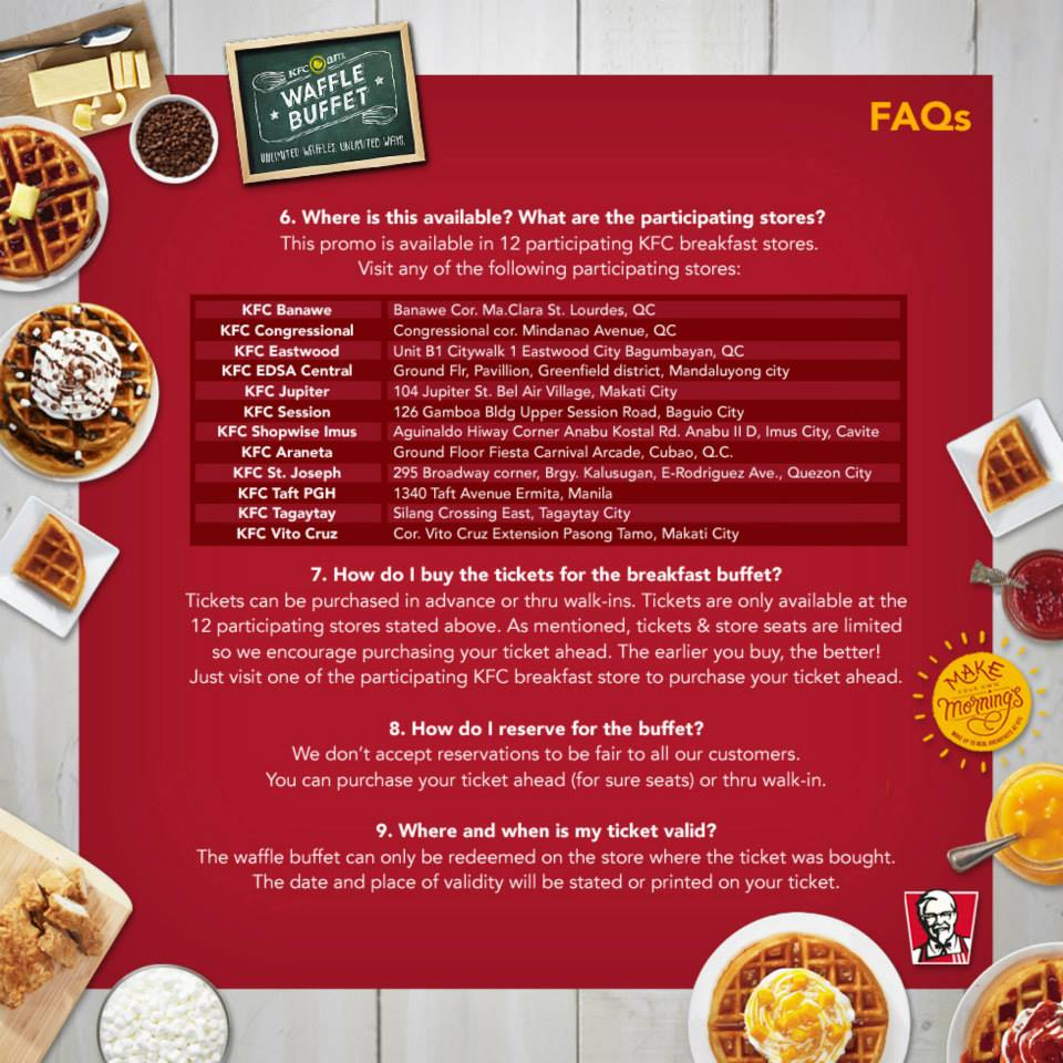 KFC Weekend Breakfast Buffet Promo - Metrokelan - Events in the ...
