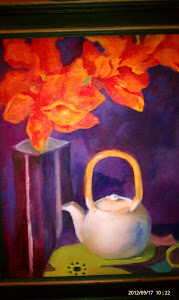 Purple Oils Still Life