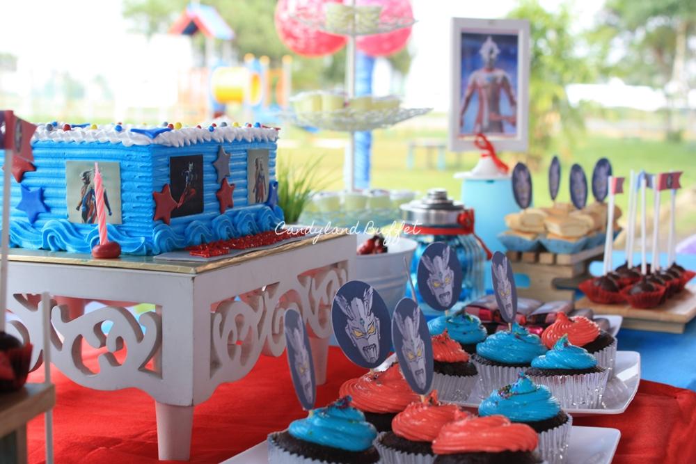 Ultraman Zero Birthday Theme Candyland Buffet