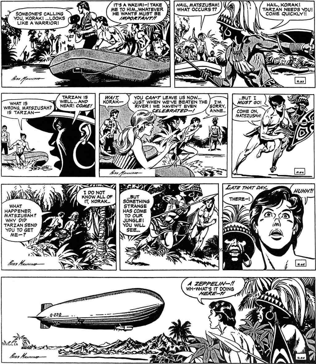 LA CANCIÓN DE TRISTAN.: Una secuencia memorable (2) Tarzan daily strips.