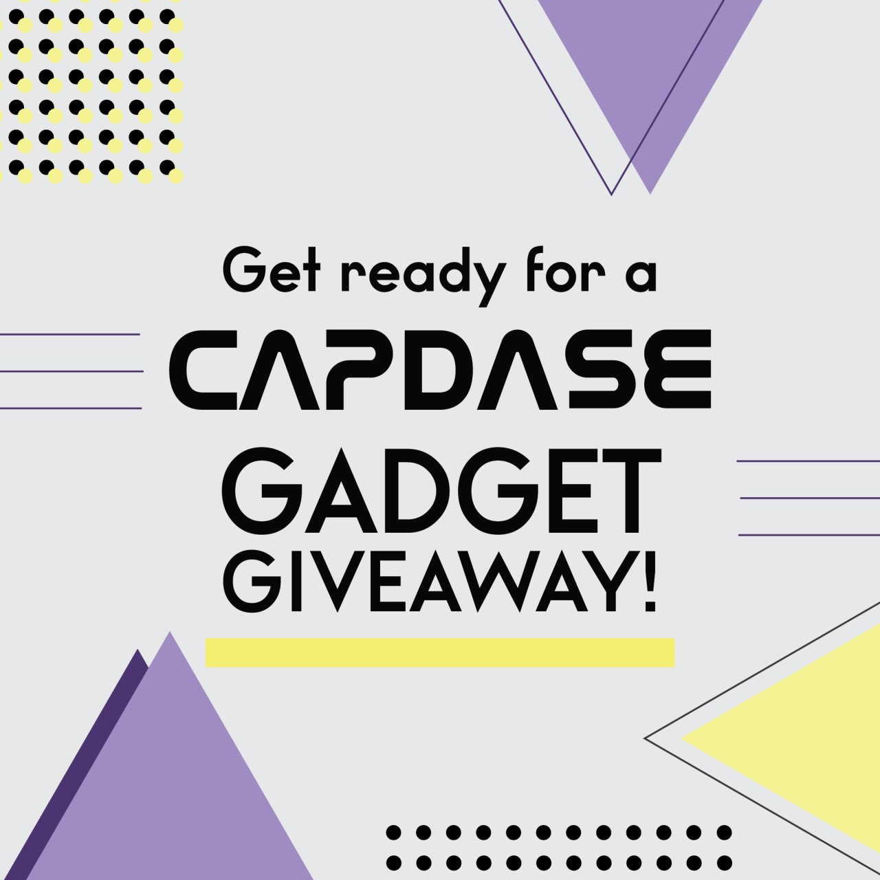 CAPDASE Weekly Giveaway WEEK2