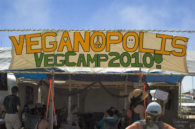 vegan theme camp at burning man 2010
