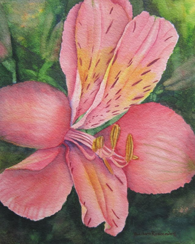 https://www.etsy.com/listing/187190007/pink-lily-flower-painting-art-print-of?