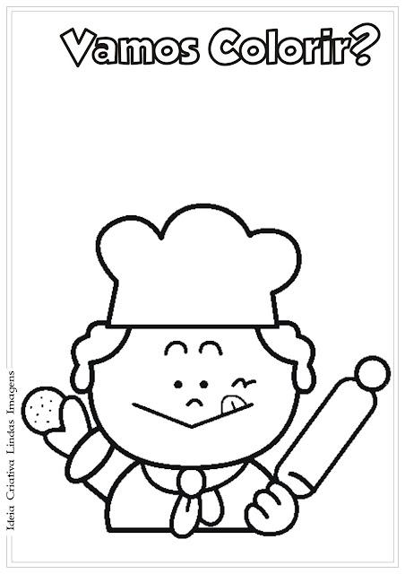 Desenho Cozinheiro para colorir