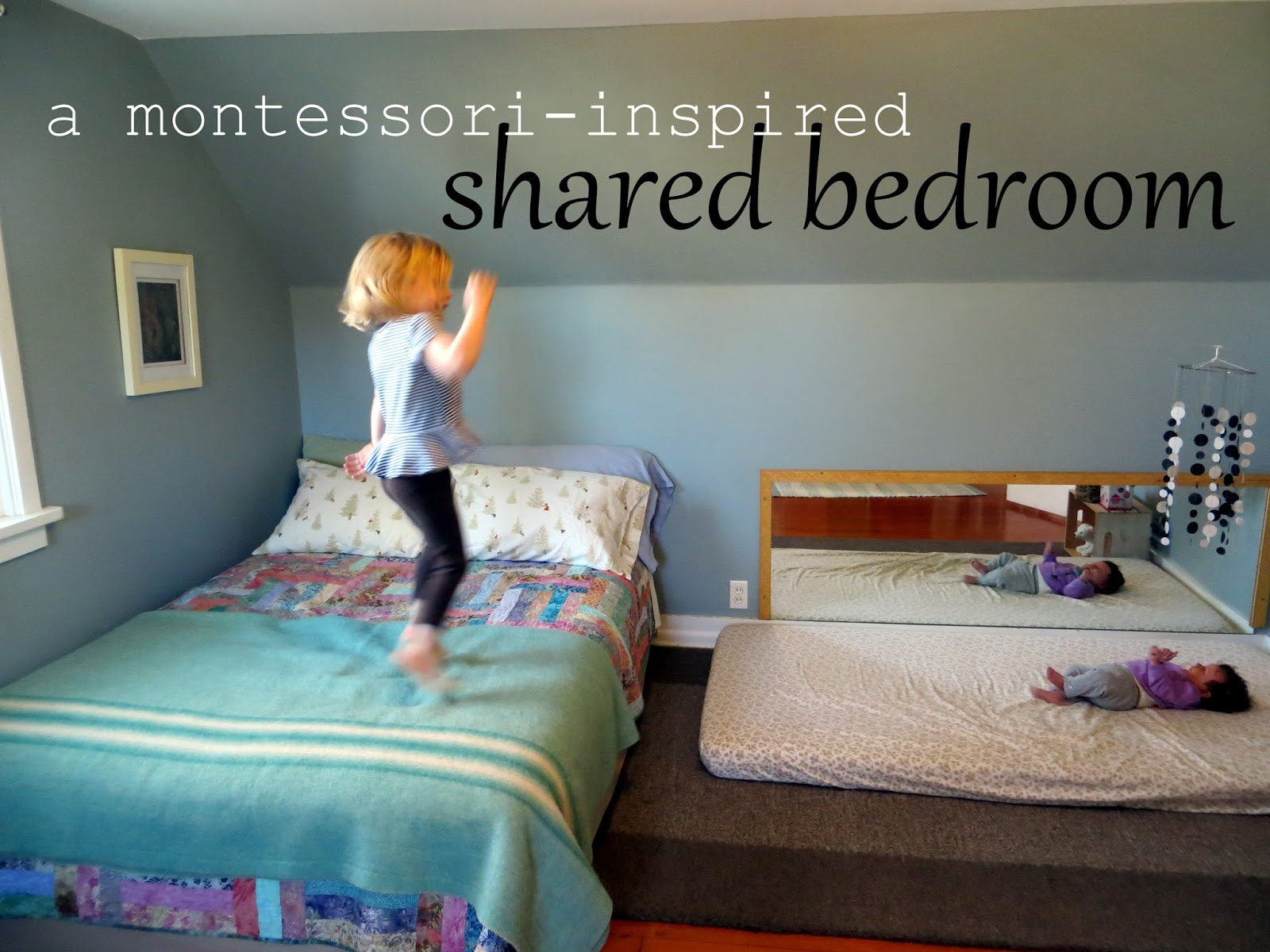 itty bitty love: a little tour: e and f\'s montessori-inspired bedroom
