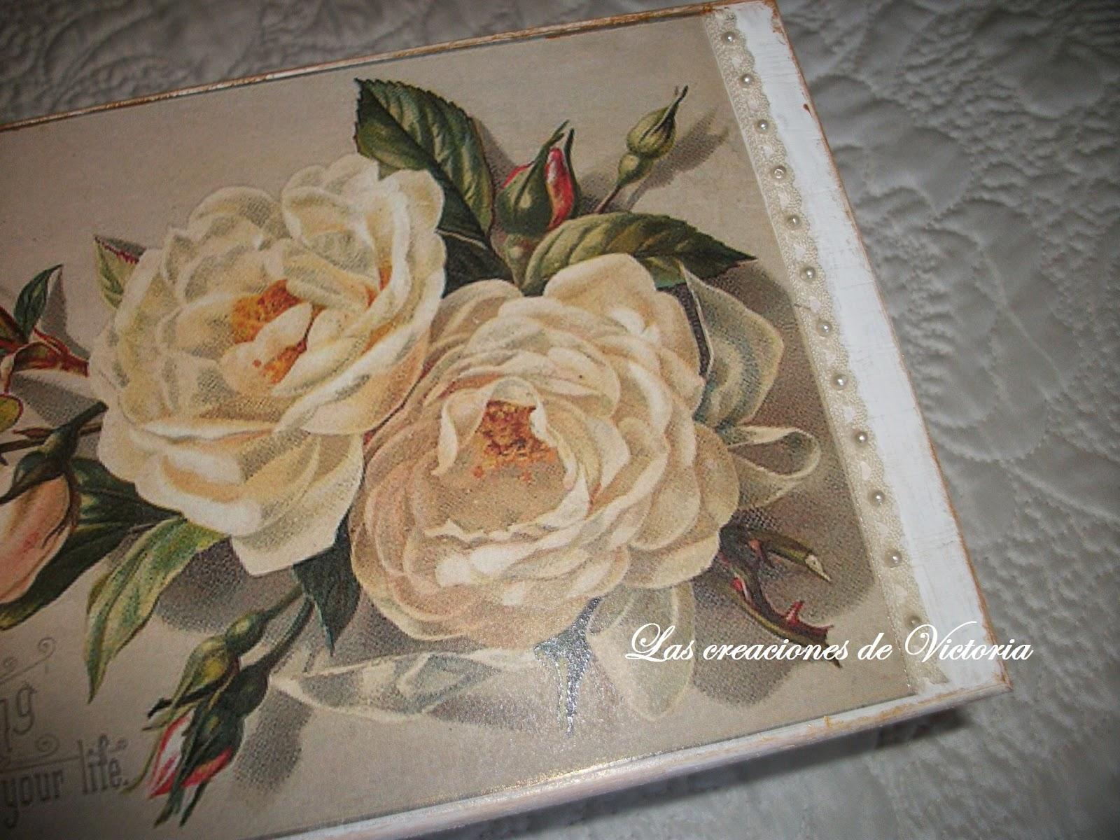 Las creaciones de Victoria. Caja vintage. Caja de madera con decoupege