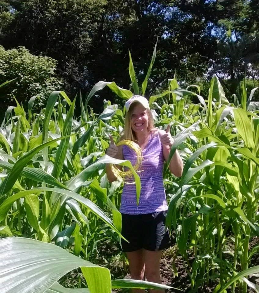 Lacee and Corn Stalk