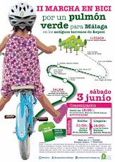 II Marcha en Bici por un Pulmón Verde para Málaga