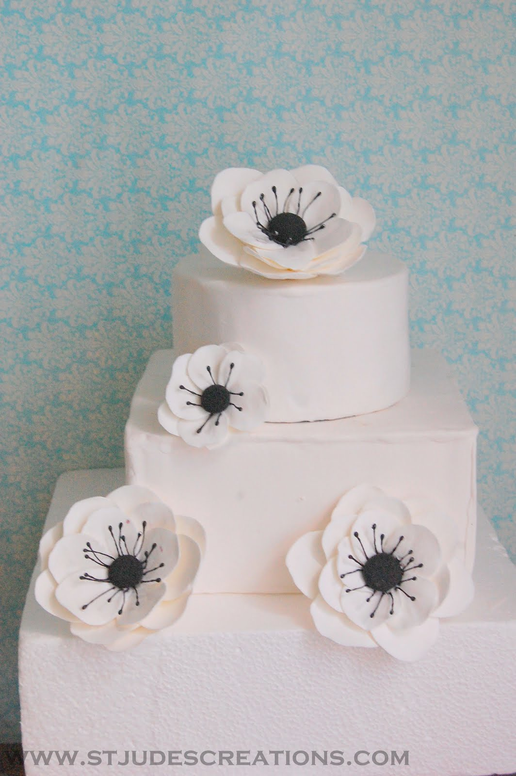 anemone cake flowers | Handmade PaPer FloweRs by Maria Noble