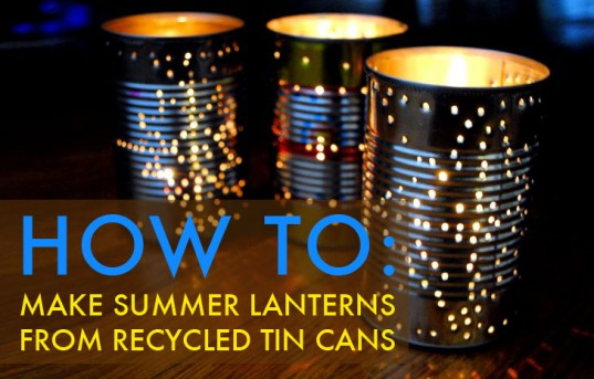 How to recycle recycled tin can as lanterns for Recycled paper lantern