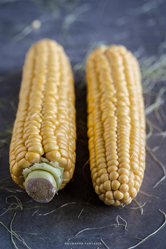 kukurydza, przepisy, krem, z kukurydzy, kukurydziany, kurki, tymianek, zupa krem, obiad,