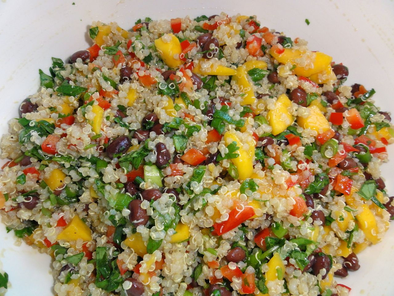 Time For Crafts: Mango Quinoa Salad
