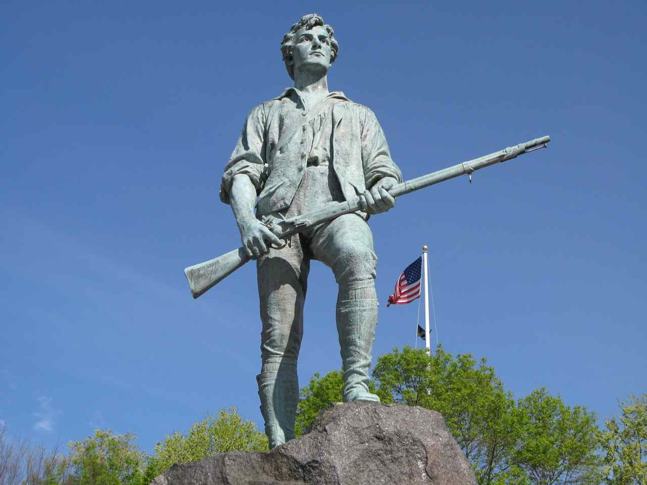 Minuteman statue on Lexington Green