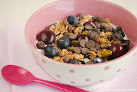Muesli con frutos rojos y semillas